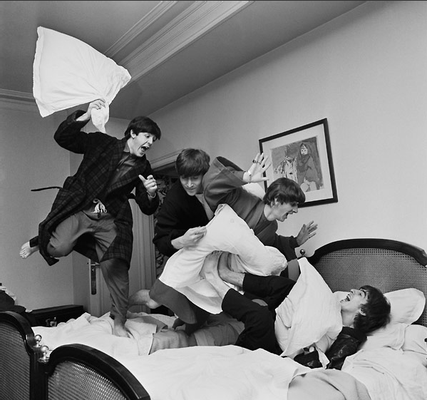 BEATLES PILLOW FIGHT. Fiber-Based, Archival Pigment Prints. Limited Edition