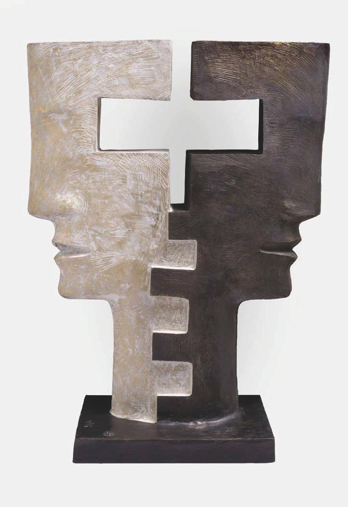 EQUINOXE Bronze 108x86x37cm / 42,5x34x15 inches