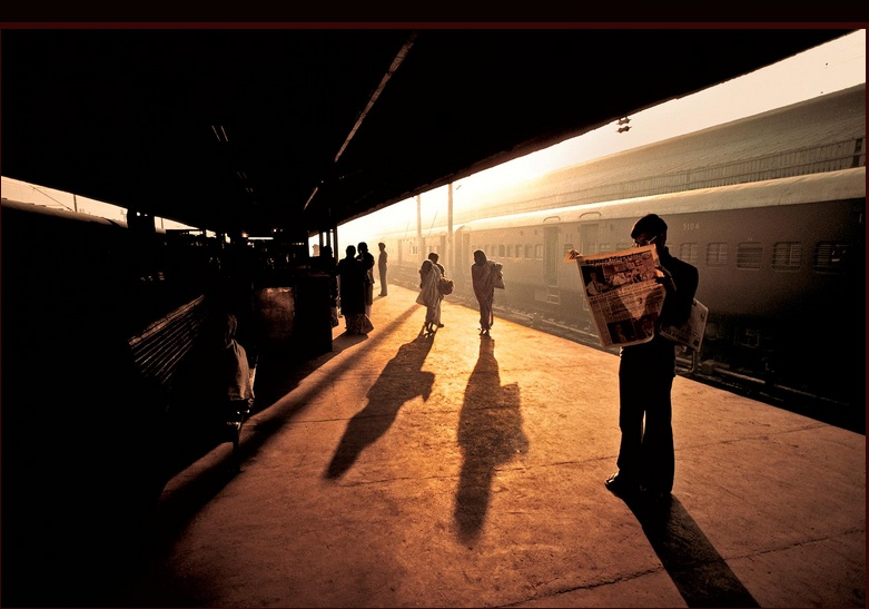 TRAIN PLATFORM AT OLD DELHI. Fuji Crystal. Limited Edition