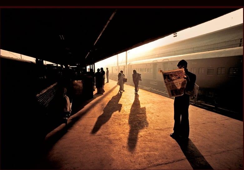 TRAIN PLATFORM AT OLD DELHI. Fuji Crystal. Limited Edition