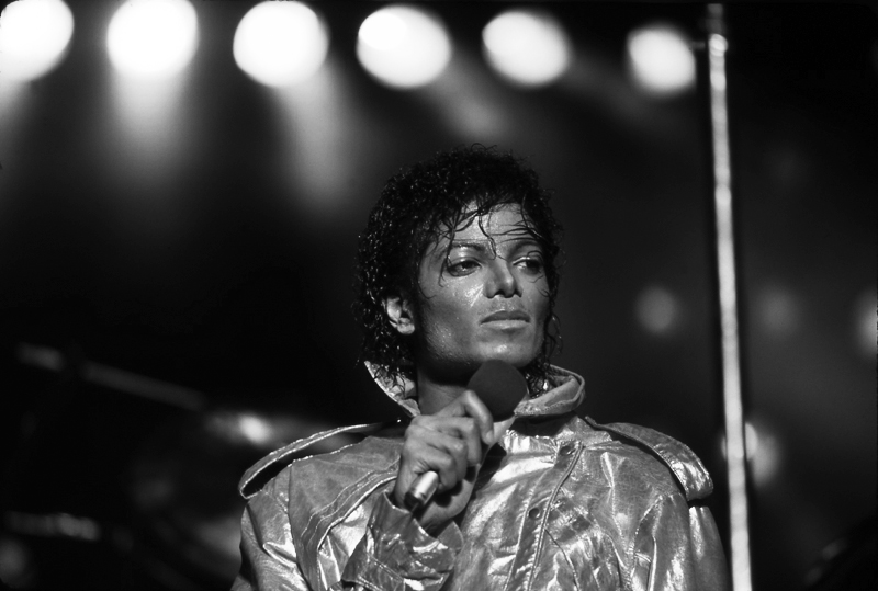 MJ on Stage Thriller Tour. Fiber-Based, Archival Pigment Prints. Limited Edition