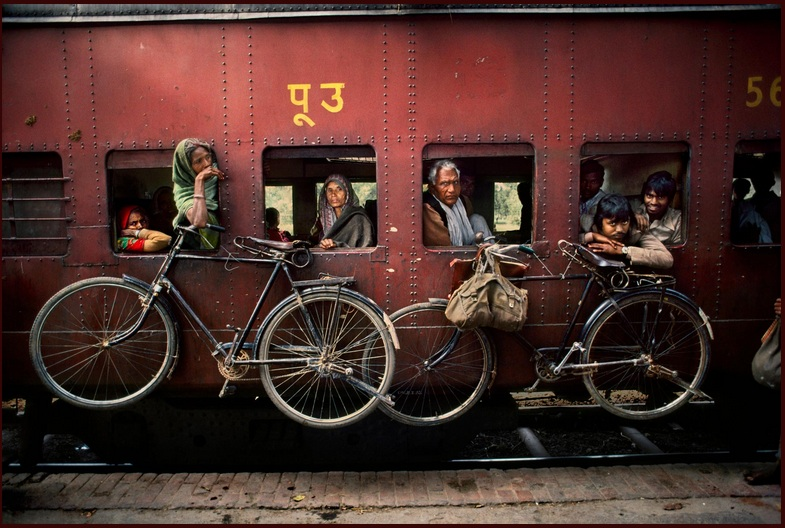 BICYCLES ON SIDE OF TRAIN. Fuji Crystal. Limited edition