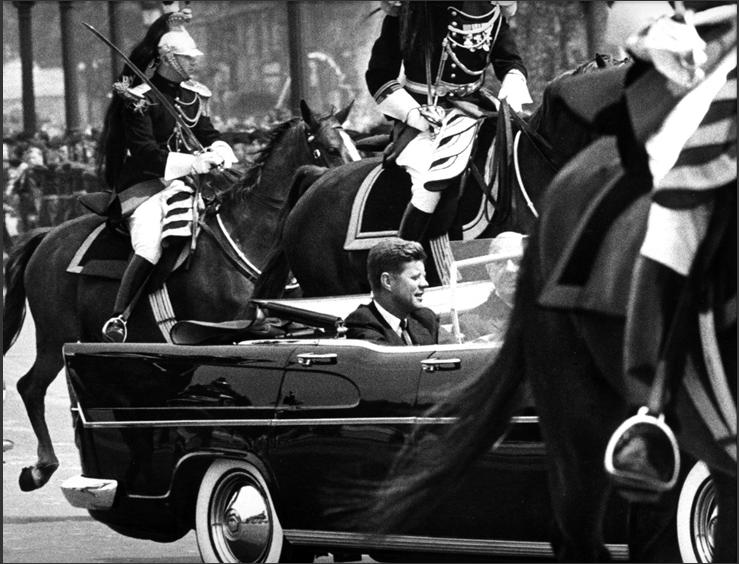 DE GAULLE & JFK IN OPEN CAR. Fiber-Based, Archival Pigment Prints. Limited Edition