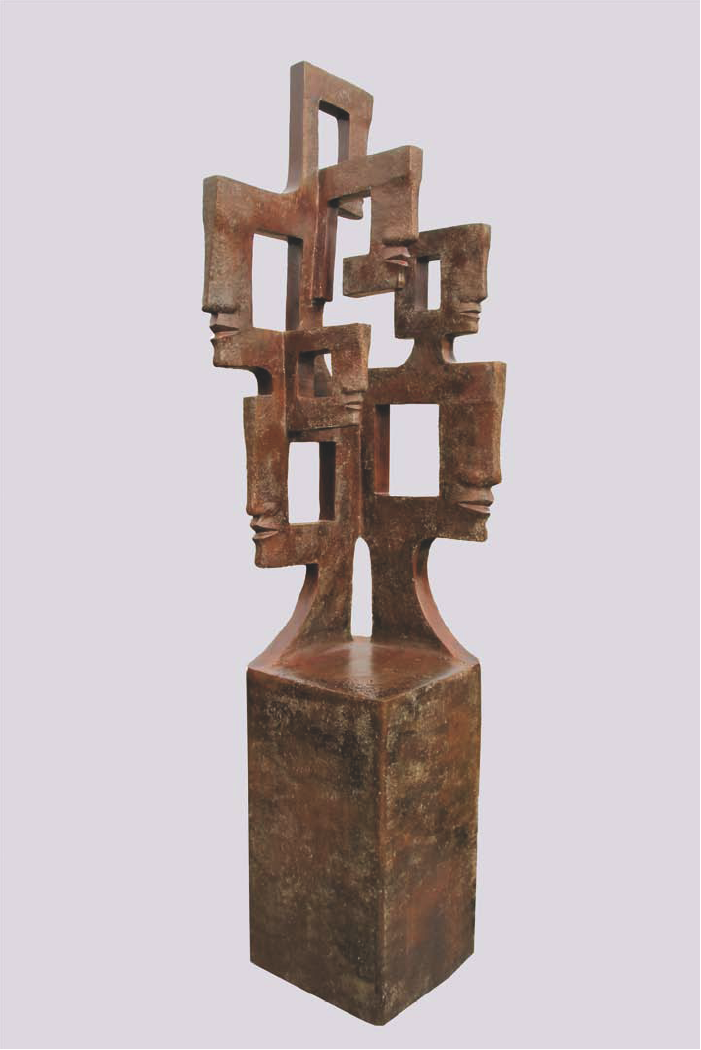 SEVEN Bronze 242x58x70cm /  95x22.8x27.5 inches