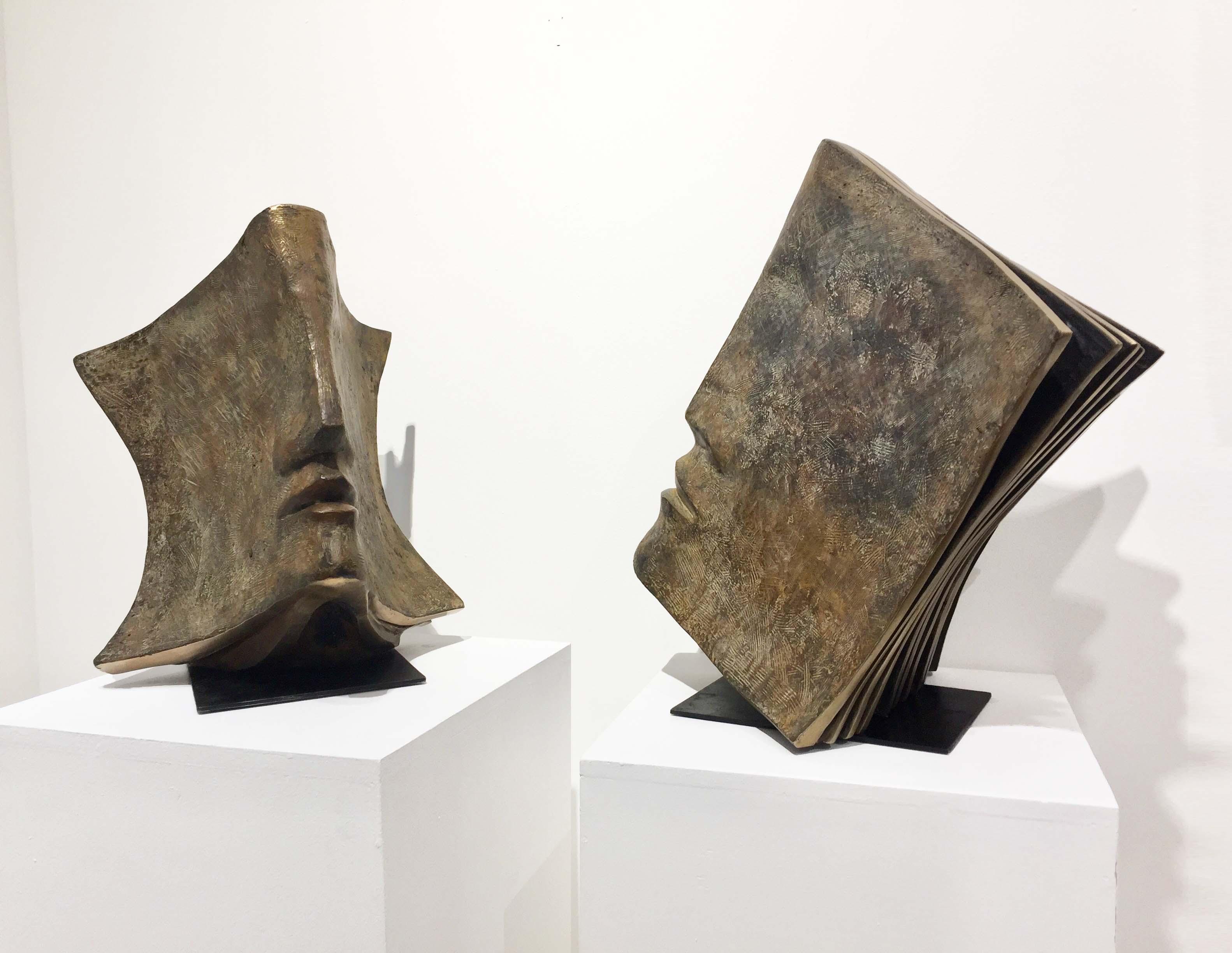 VERBATIM Bronze 45x37x40 et 54x50x35cm / 18x15x16 & 21x20x14 inches