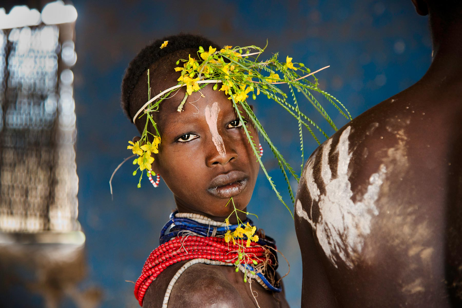 CHILD ADORNED WITH FLOWERS. Fuji Crystal. Limite Edition