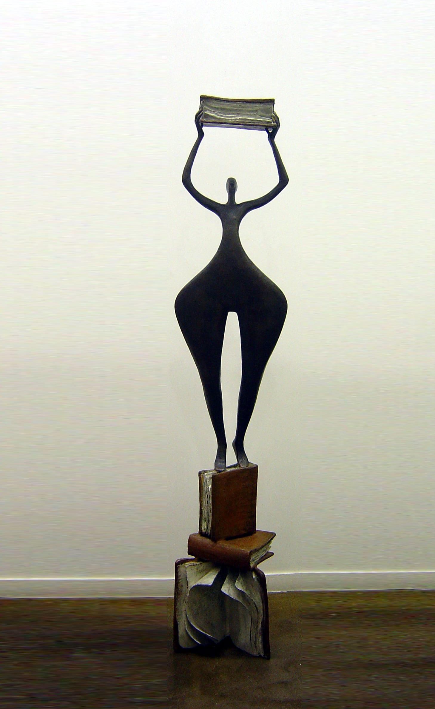 ACCUMULATING KNOWLEDGE Bronze 175cmx45x40cm / 69x17,7x15,7 inches