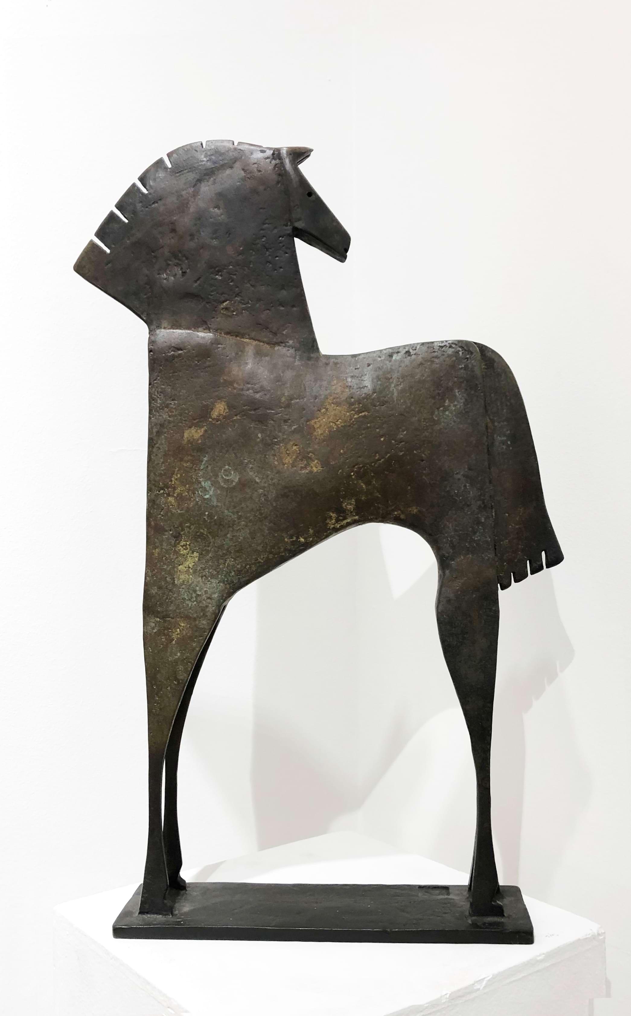 CABALLO NADELIO Bronze 59x39x9cm 23,2x15,3x3,5 inches