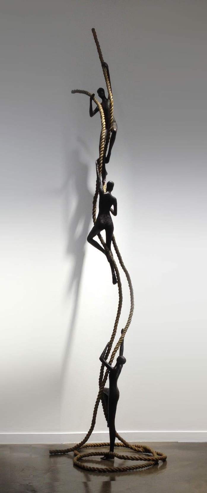 ENCOURAGEMENT Bronze 310x75x85cm /122x29,5x33,4 inches