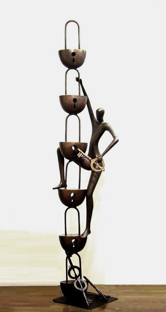 UNLOKING SPIRITUAL MYSTERIES Bronze 348cm / 137 inches