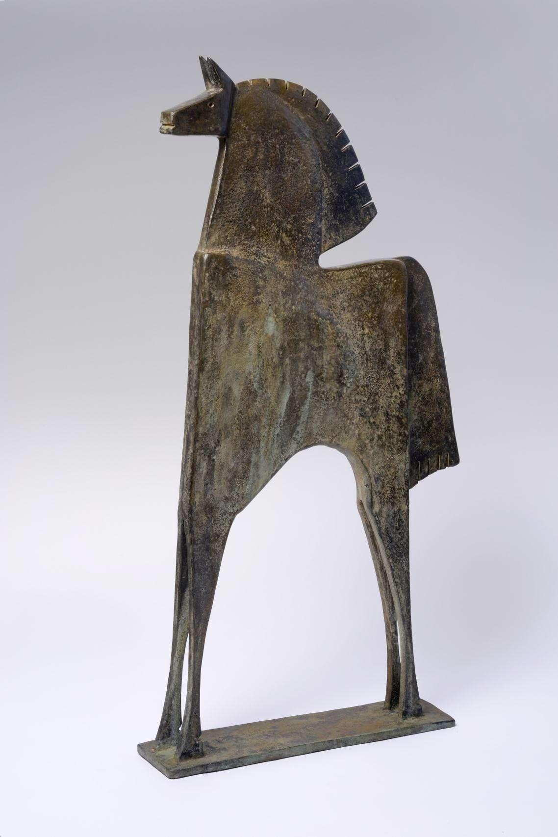 CABALLO MEDONTES Bronze 84x47x10cm / 33x18,5x3,9 inches