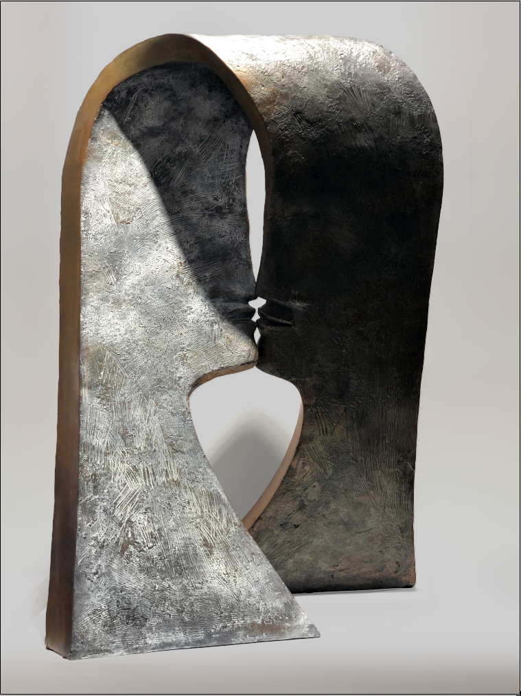 FIRST KISS Bronze 80x60x30cm / 31,4x23,6x11,8 inches
