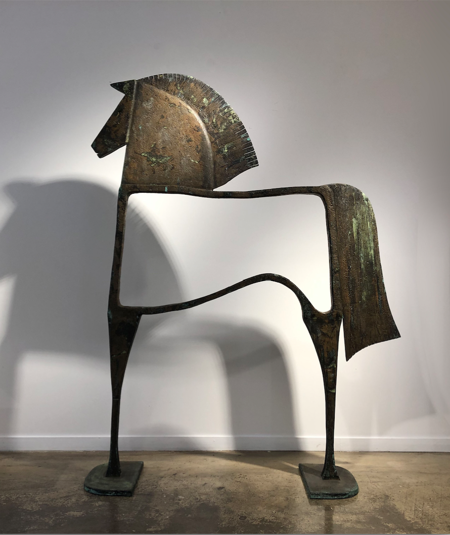 CABALLO MACENIO Bronze 184x140x37cm / 58,2x55,1x14,5 inches