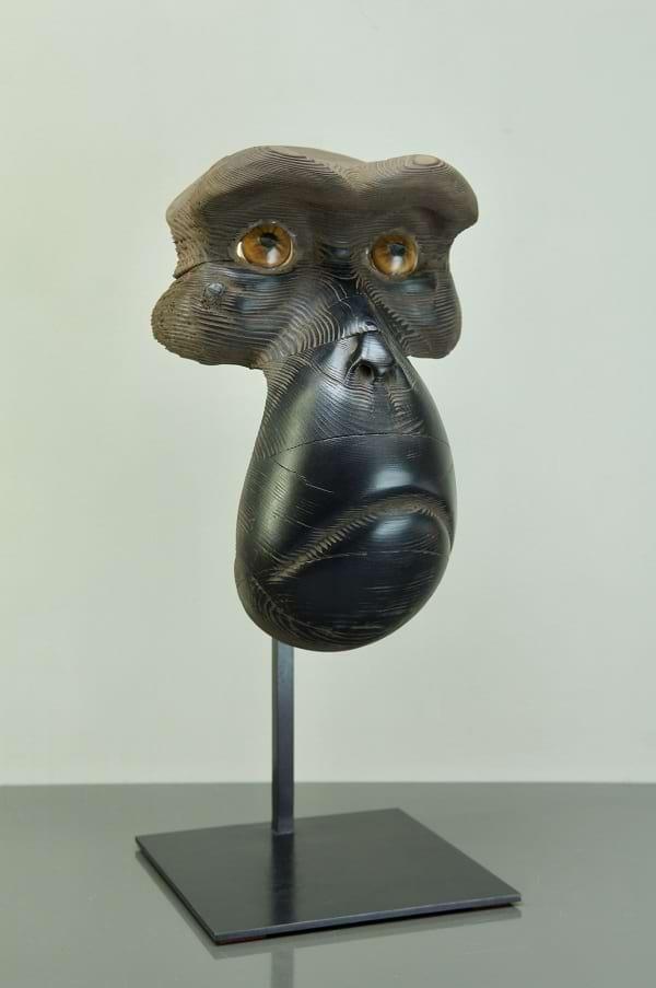 MASQUE DE MACAQUE Bronze 55x33x21cm / 21x12,9x8,2 inches