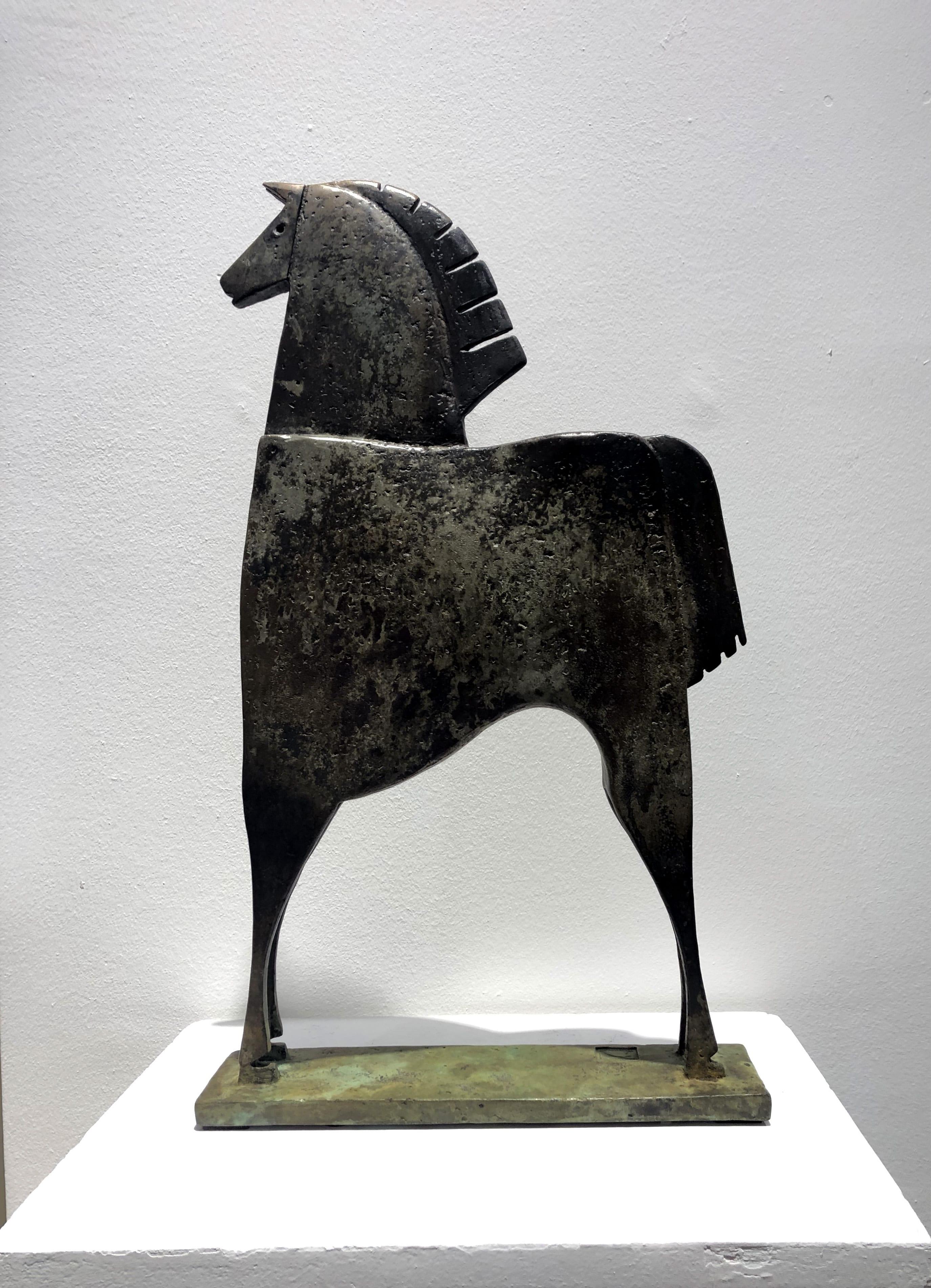 CABALLO AGAMENON Bronze 51x30x7,9cm / 20x11,8x3 inches