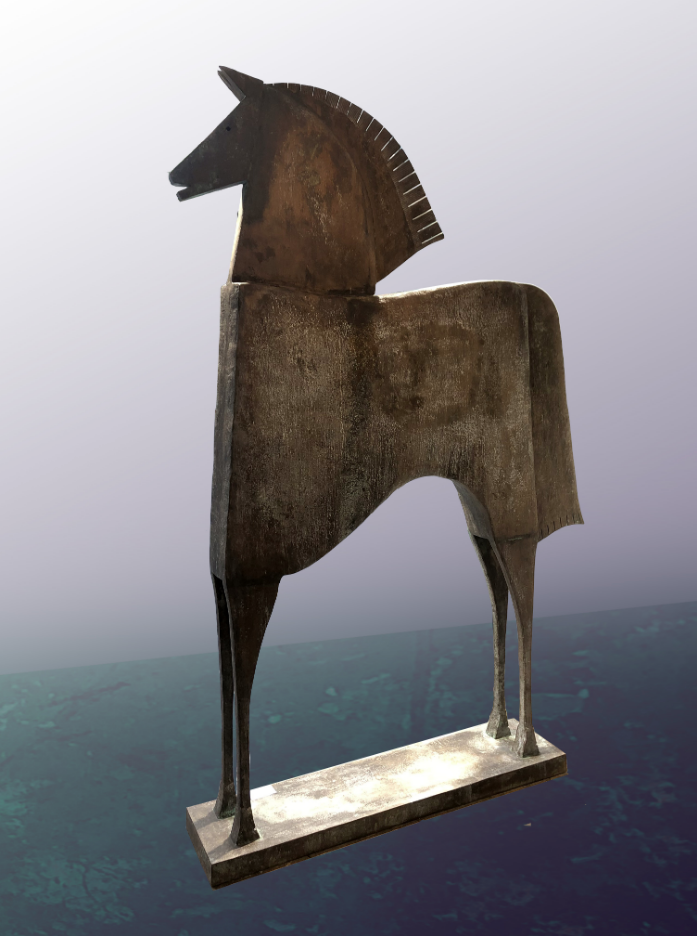 CABALLO NILEO Bronze 240x160x32cm / 94,5x63x12,5 inches