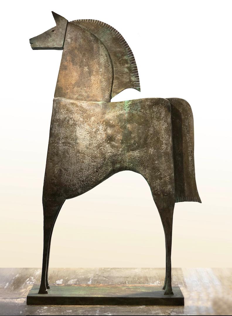 CABALLLO PRIAMO Bronze 255x160x32cm / 100,3x63x12,5 inches
