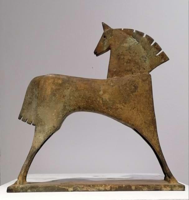 CABALLLO ADEONA Bronze 33x33x6,5cm / 12,9x12,9x2,6 inches