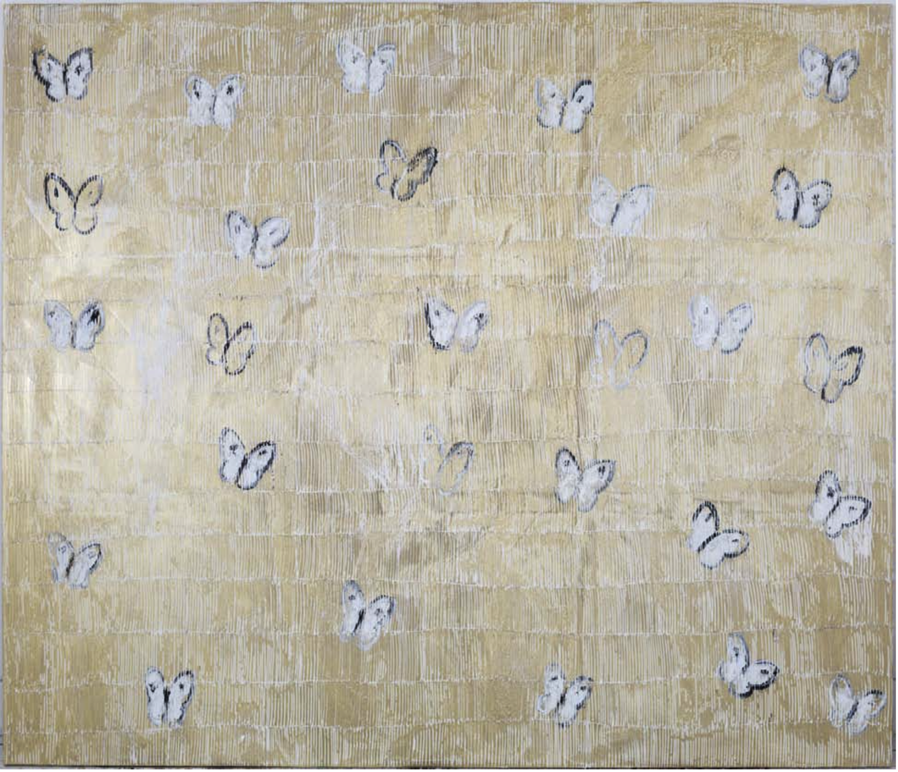 WHITE ASCENTION Huile sur Toile 183x214cm / 72x84 inches