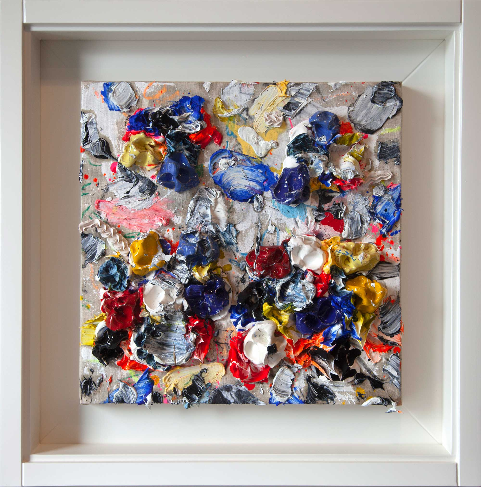 RED-WHITE-I- Mixte 70x70cm / 27,5x27,5 inches