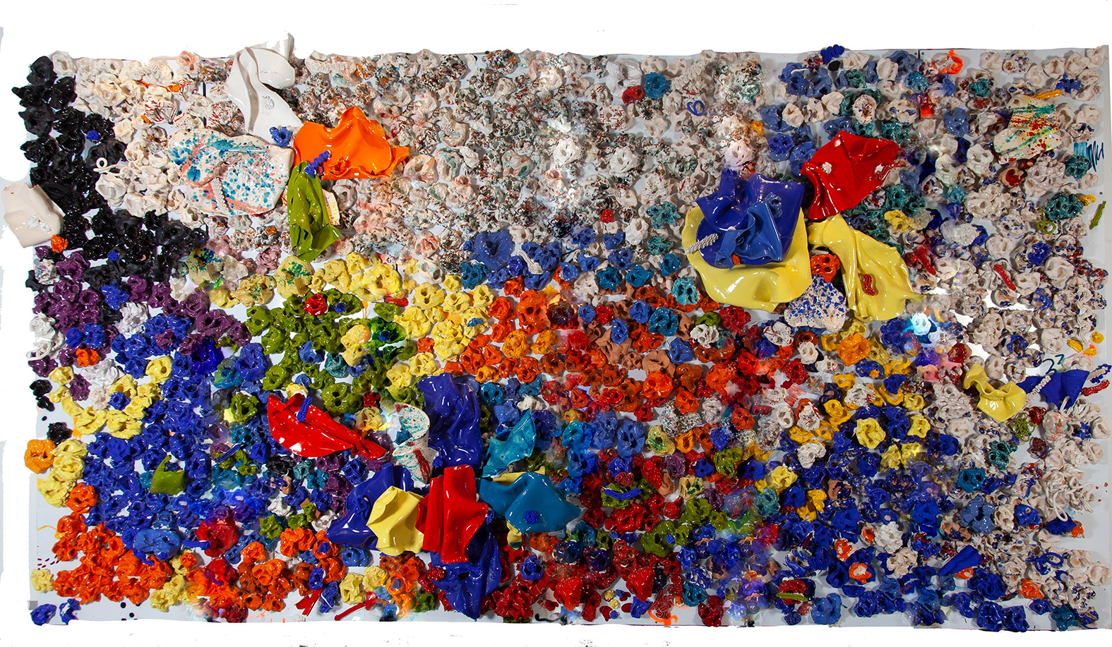 BLUE and YELLOW Mixte 220x475cm / 86,6x187 inches