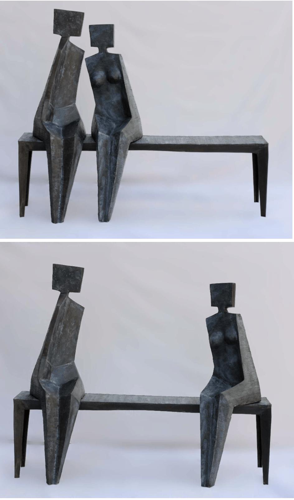 ORIGAMI Bronze 150x130x55 cm /59x51x21,6 inches inches