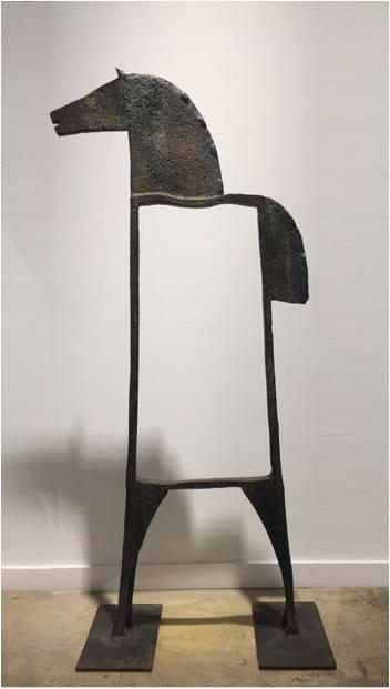 CABALLO PERIMETRO Bronze 138x66x30cm / 54,3x25,9x11,8 inches
