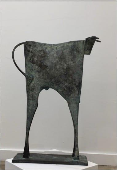 TORO PALANTE Bronze 67X50X13cm / 26,3x19,6x5,1 inches